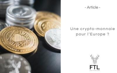 Une crypto-monnaie pour l'Europe ?