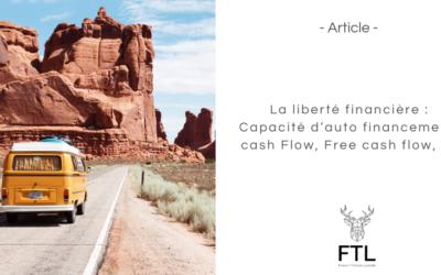 La liberté financière : Capacité d'auto financement, cash Flow, Free cash flow, …